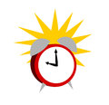 Illustration of a ringing alarm clock