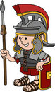 Illustration of Roman soldier Royalty Free Stock Photo