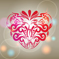 Illustration romantic background with abstract flo vector of beautiful glittering floral heart Royalty Free Stock Photos