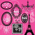 Illustration rose de conception de paris Image stock