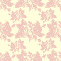 Illustration roses flowers on a pink background seamless pattern Royalty Free Stock Images
