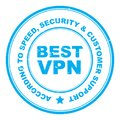 Best VPN stamp Royalty Free Stock Photo
