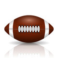 Illustration of rugby ball on a white background Stock Photo