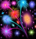 Illustration salute firework Stock Photos