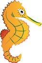 illustration seahorse vector Arkivbild
