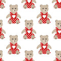 Illustration of seamless pattern with colorful bears teddy backg toys background Royalty Free Stock Images