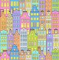 Illustration seamless pattern colorful buildings Stock Images