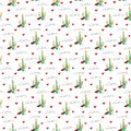 Illustration of seamless pattern love gifts for textile, wrapping paper