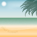 Illustration of seaside vector background with for you design Stock Images