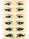 Illustration set female eyes Royalty Free Stock Photography