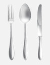 Illustration set fork spoon knife cutlery set Stock Photos