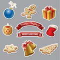 Hristmas icons and stickers Royalty Free Stock Photo