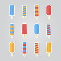 Illustration set ice cream vector eps Royalty Free Stock Photos