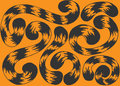 Illustration set of tails tiger Royalty Free Stock Photo