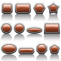 Illustration set web buttons white background Royalty Free Stock Image