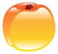 Illustration of shiny peach fruit icon an clipart Royalty Free Stock Photo