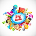 Illustration shopping object big sale Royalty Free Stock Image