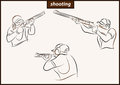 Illustration shows a Shooting