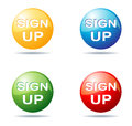 Illustration sign up button collection Stock Photos