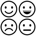 Vector icon of smiley emotions Royalty Free Stock Photo