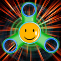 Illustration with smiling spinner