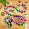 Snakes and ladders game pirates theme