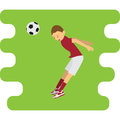 Illustration of soccer player