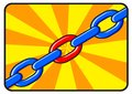 Illustration of solid chain Stock Photo