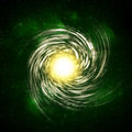 Illustration of a spiral galaxy Stock Images