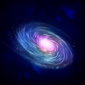Illustration of a spiral galaxy Royalty Free Stock Image