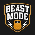 Illustration Sport Theme With Text BEAST MODE