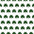Illustration of a St. Patrick Day. Seamless pattern with clover leaves