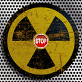 Illustration stop radiation as a symbol of the struggle against nuclear power plants Royalty Free Stock Photos