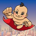 Super Baby Asian City Background Royalty Free Stock Photo