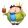 Illustration: Super Foodie Boy. Royalty Free Stock Photo