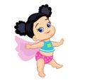 Illustration Super Hero Baby Girl