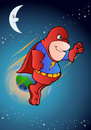 Illustration super hero flying space background Royalty Free Stock Photography