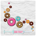 Illustration with syringe with donuts abstract Royalty Free Stock Photography