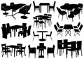 Illustration Of Tables And Chairs Royalty Free Stock Photos