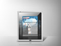 Illustration of tablet pc with news app Stock Photography