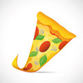 Illustration tasty slice pizzaa grey backdrop Stock Photo