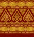 Illustration of textile ethnic ornament