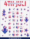 Illustration of 4th of July, United Stated independence day #2