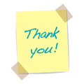 Illustration of thank you yellow sticker Stock Images