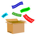 Illustration for Think out of the Box Royalty Free Stock Photo