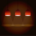 Illustration of three lights square vector red Stock Photography