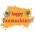 Illustration to the Hindu festival happy Janmashtami