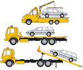 Illustration of tow trucks Stock Photo