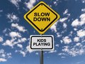 Slow down kids playing Royalty Free Stock Photo