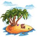 Illustration Of Treasure Islan...